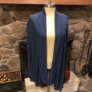 Lou & Grey Cardigan Sweater Size L Blue